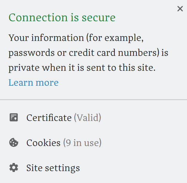 Supporting secure connections